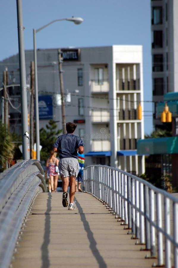 Download Morning Jog stock image. Image of bridge, summer, exercise - 370309