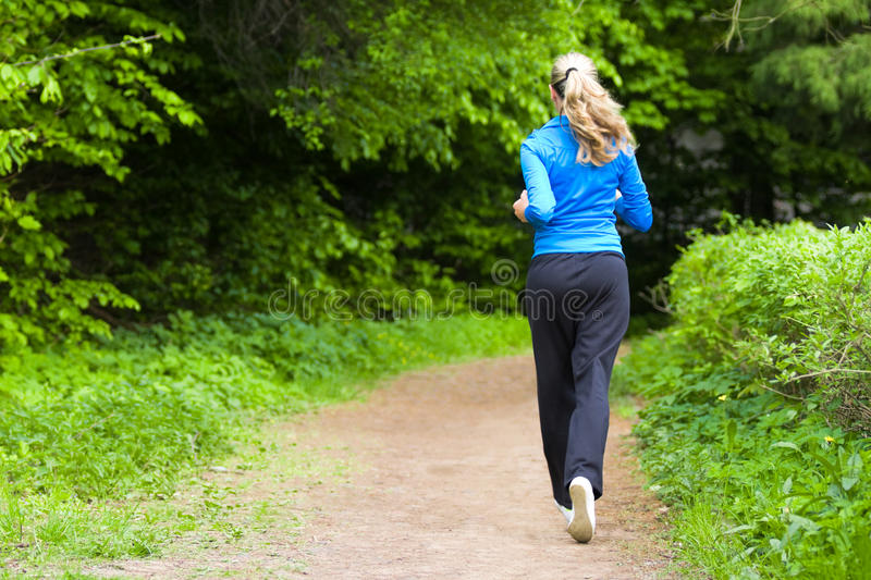 Download Morning Jog For Young Woman Royalty Free Stock Image - Image: 11867826