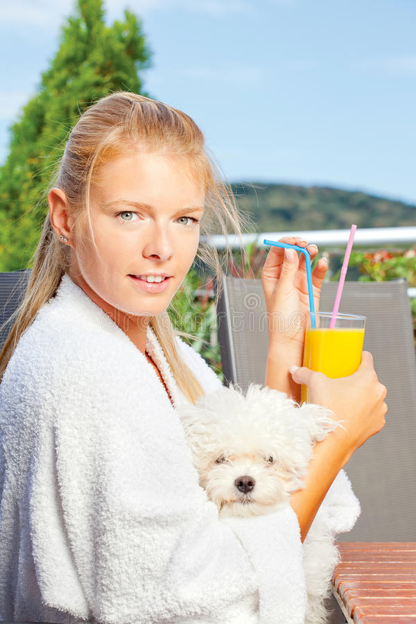 Download Morning Juice On Terrace Stock Photos - Image: 21919863