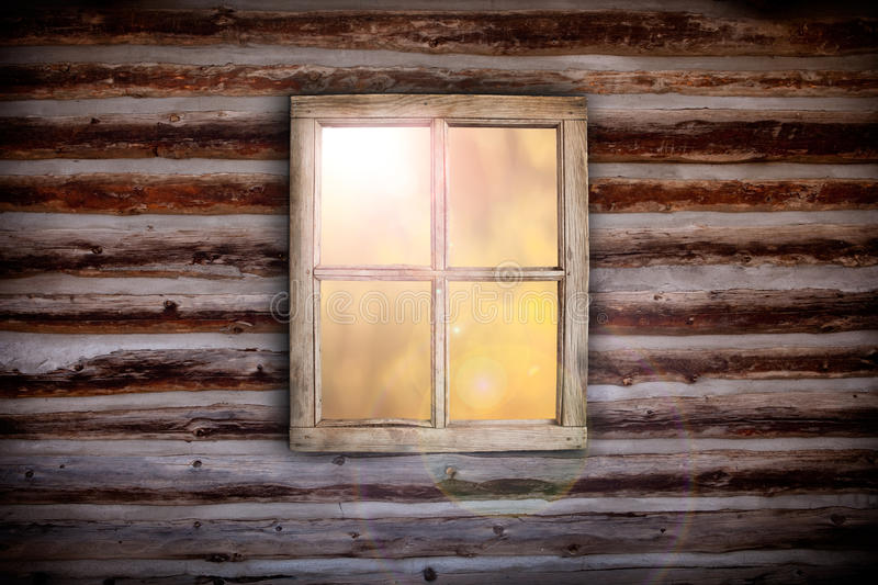 Morning light through cabin window royalty free stock images