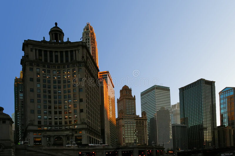 Download Morning light of Chicago stock photo. Image of building - 8949716