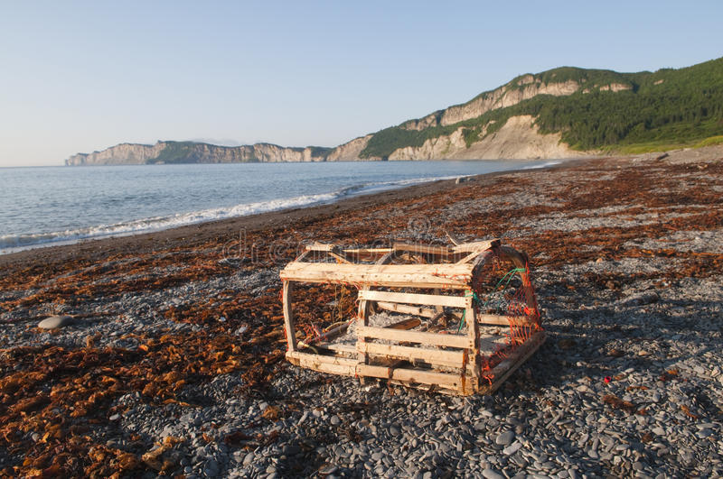 Download Lobster Trap On Gaspe Shoreline Stock Photo - Image: 30146536