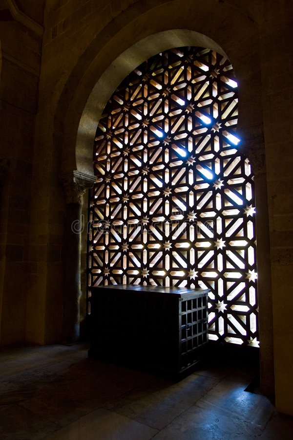 Morning Light in the Mosque, Cordoba royalty free stock images