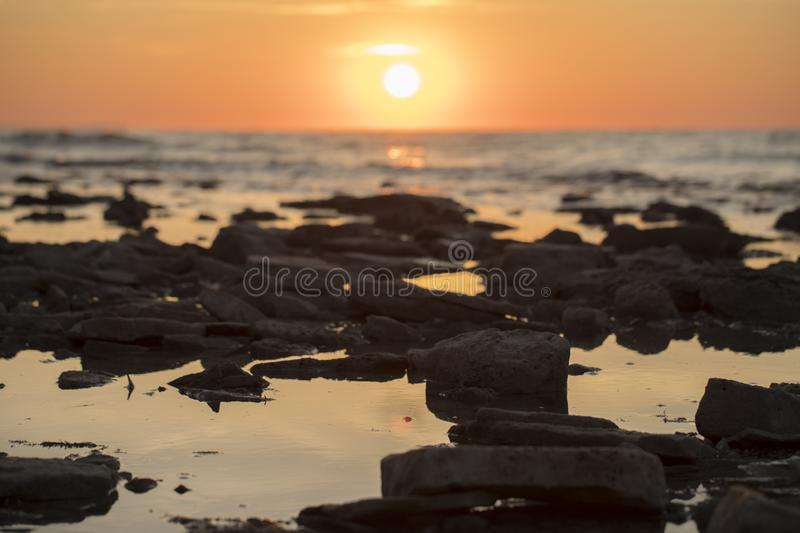 Morning long exposure seascape stock photography