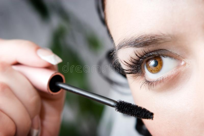 Morning make-up royalty free stock photography