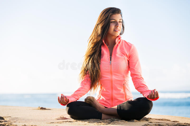 Download Morning meditation stock photo. Image of attractive, female - 29631312