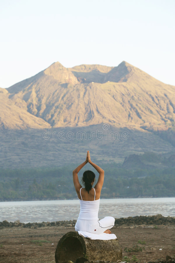 Morning Meditation royalty free stock photography