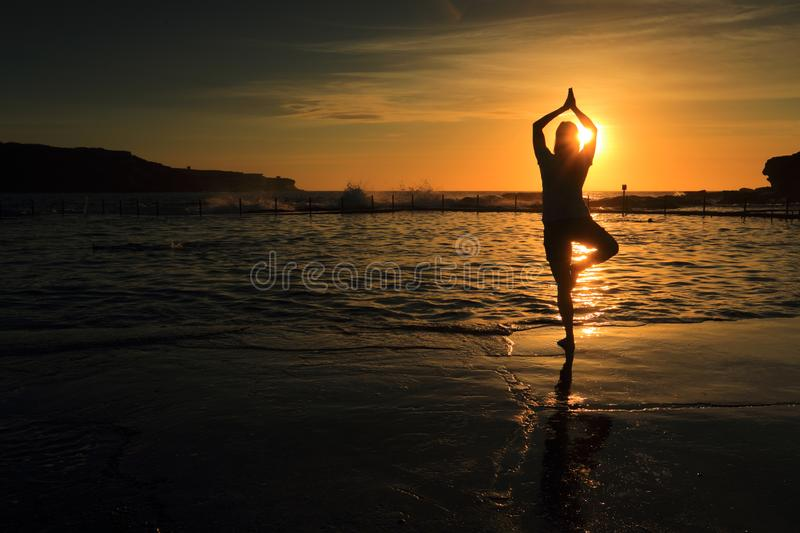 Morning meditations stock photography