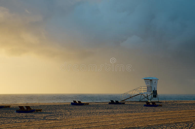 Morning at Miami beach stock photo