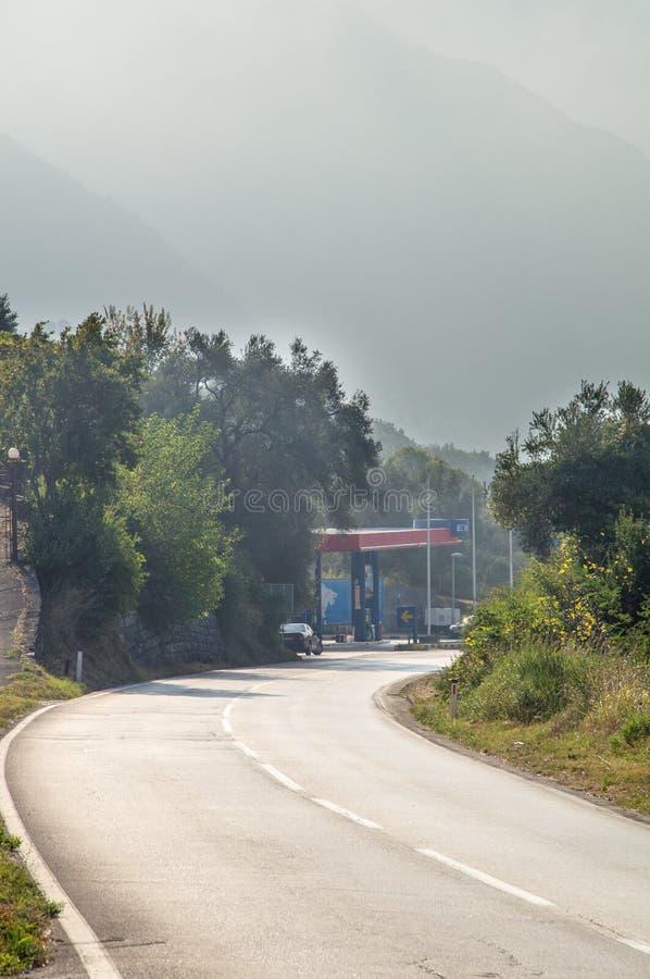 Morning mist in Montenegro stock image