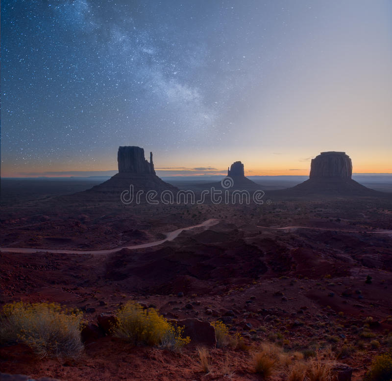 Morning in Monument Valley stock image