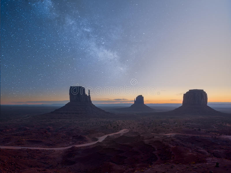 Morning in Monument Valley stock photos