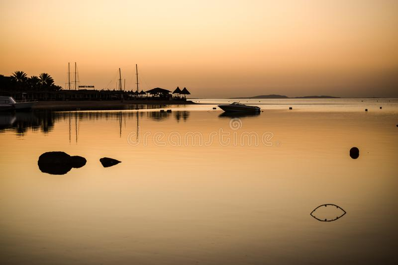Morning mood at the read sea royalty free stock photography