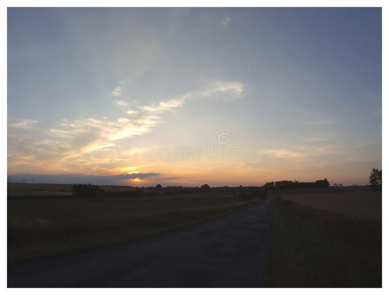 Morning mood Vol. 2 - Sunset and clouds stock photo