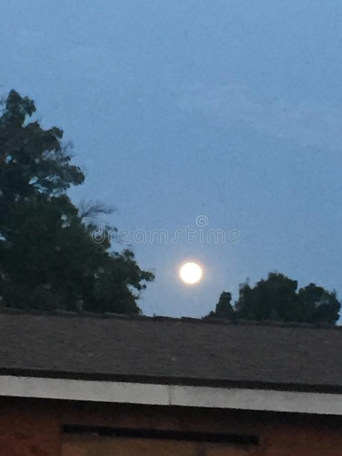 Download Almost morning moon stock image. Image of dawn, view - 105347727