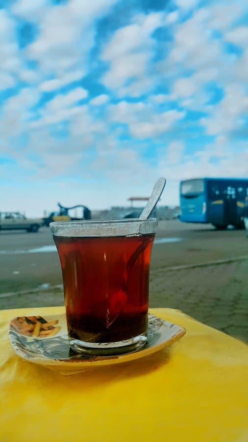 Morning. Moring see Alex egypt Tea harmony sky royalty free stock photo
