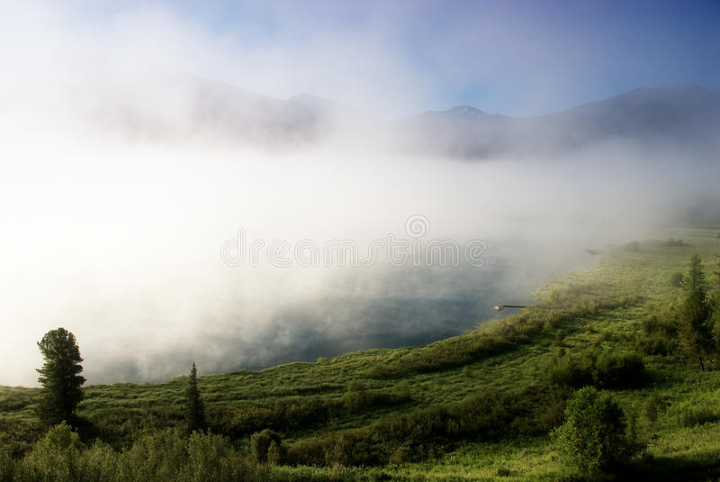 Download Morning on mountain lake stock photo. Image of scenics - 14861386