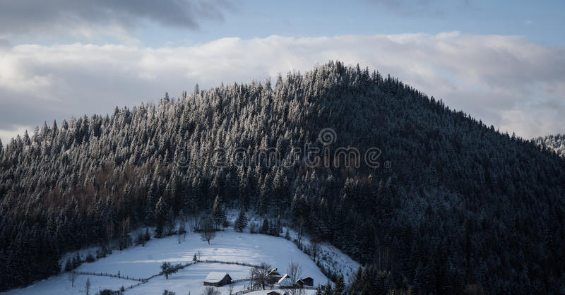 Morning in mountains royalty free stock photography
