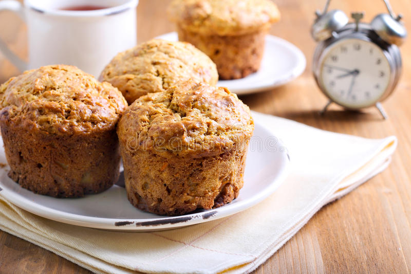Morning muffins stock photos