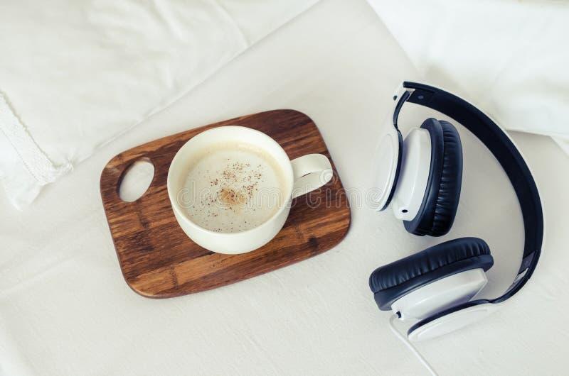 Morning music background stock image