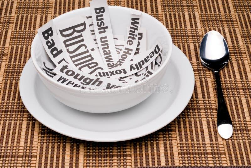Download Morning news stock image. Image of bowl, morning, newspaper - 4611263