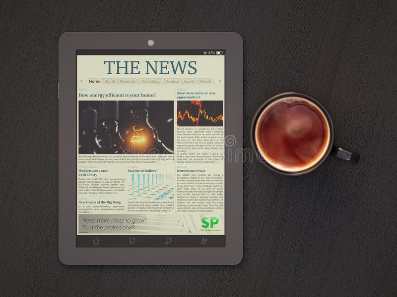 Morning News royalty free stock photography