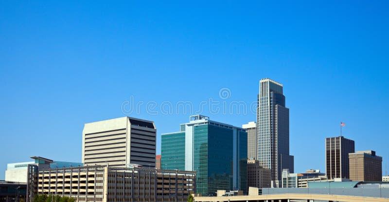 Morning in Omaha. Nebraska. Panoramic view of the city royalty free stock photos