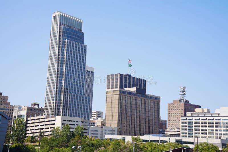 Morning in Omaha. Skyline of the city. Omaha, Nebraska, USA stock photography
