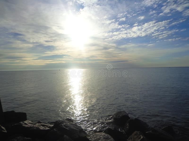 Morning over the sea royalty free stock photo