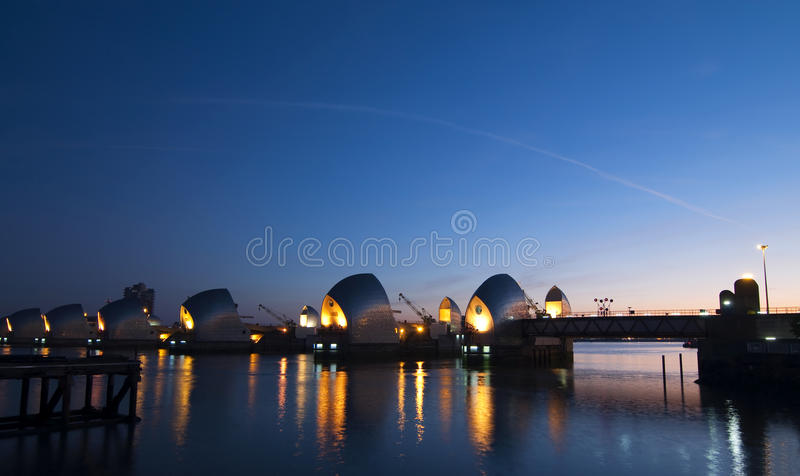 Download Morning Over The Thames Barrier Stock Image - Image: 21948647