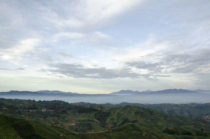 Morning at Panyaweuyan. West Java - Indonesia stock image