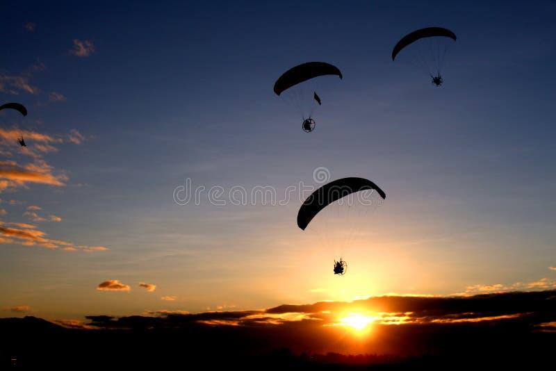 Morning Paragliding stock photos