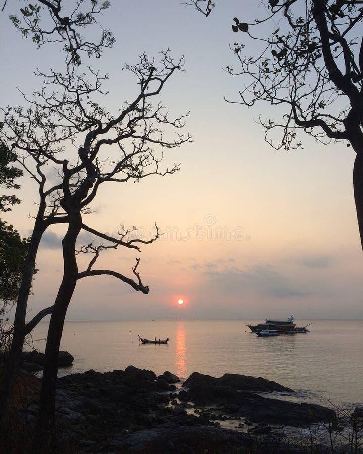 Morning Peaceful sea stock photography