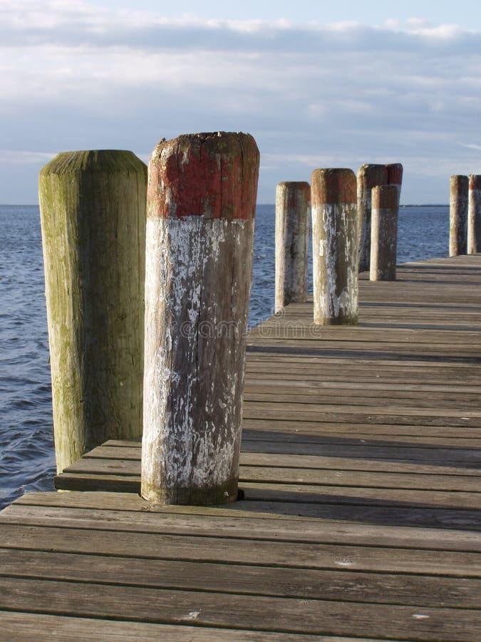 Morning Pier - Vertical royalty free stock photos