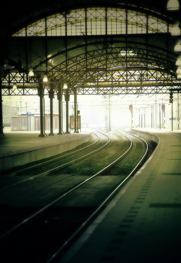 Download Morning rail station stock image. Image of road, industrial - 28683125