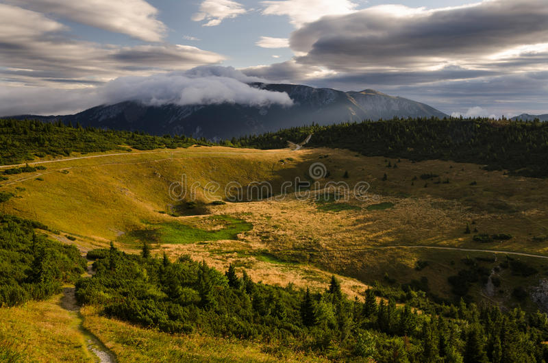 Morning in Rax Alps, Austria, Europe royalty free stock image