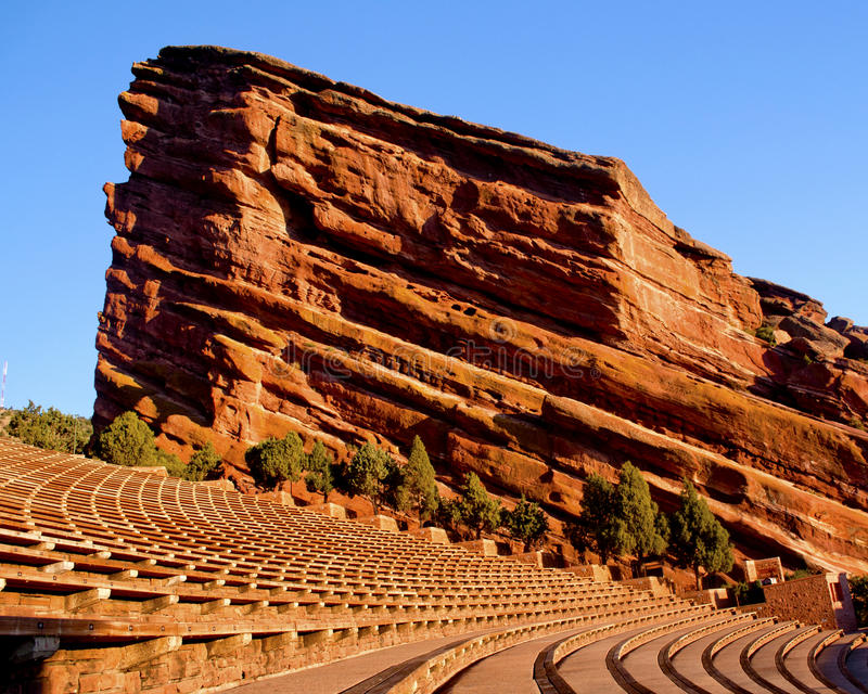 Morning at Red Rocks 3. A Monolith at Red Rocks Ampatheatre in Morrison, Colorado