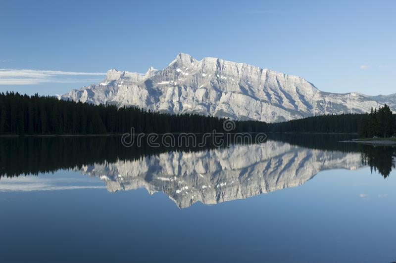 Two Jack Lake, Banff National Park, Canada stock image