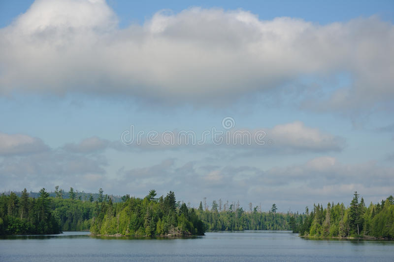 Morning on a Remote Wilderness Lake stock images