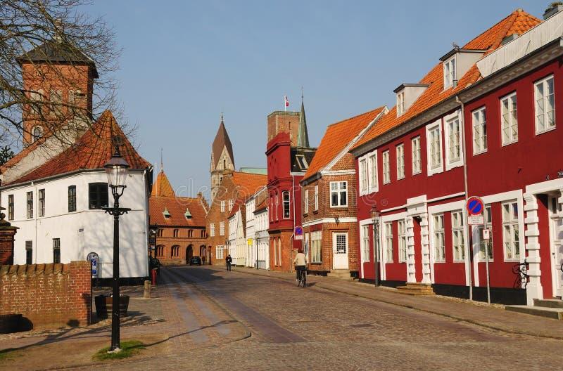 Morning in Ribe royalty free stock photos