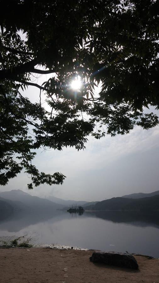 Morning River stock photo