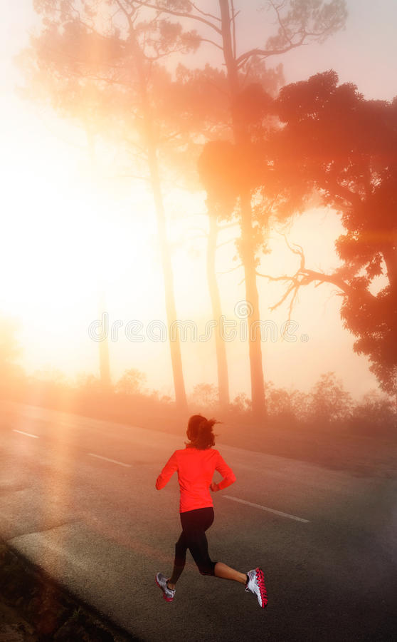 Morning run woman royalty free stock photo
