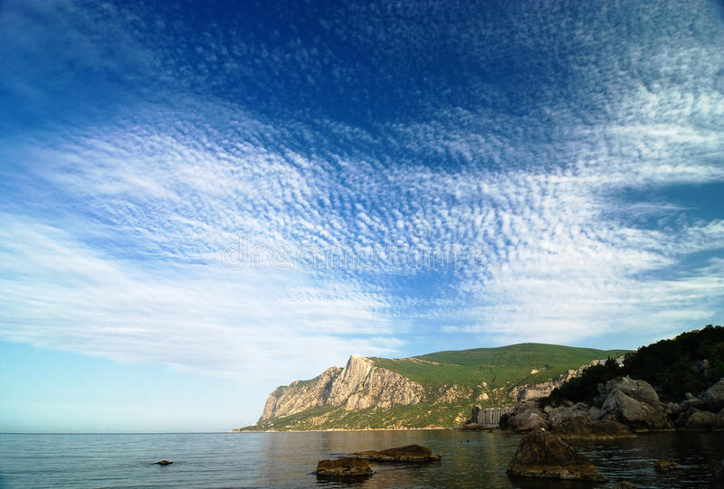Download Morning In A Sea Bay With Amazing Sky And Clouds Stock Photo - Image: 13400118