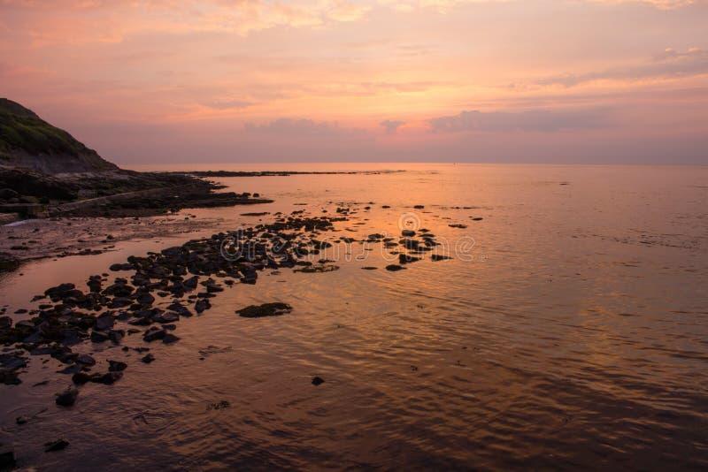 Morning Seascape Rocky Coast royalty free stock photo