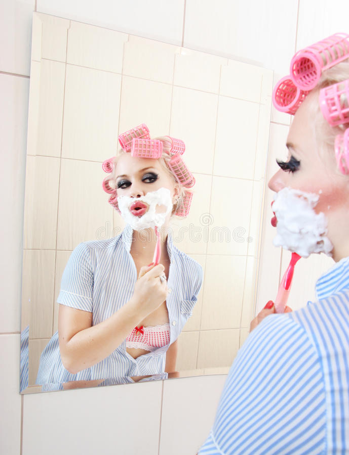 Download Morning shave stock image. Image of foam, crazy, mirror - 17237021