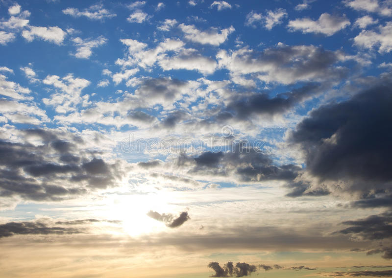 Download Morning sky with clouds stock photo. Image of sunrise - 9870482