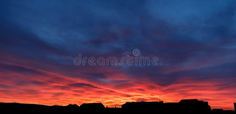 Dramatic sunrise sky. Morning sky. Dramatic sunrise sky royalty free stock photo