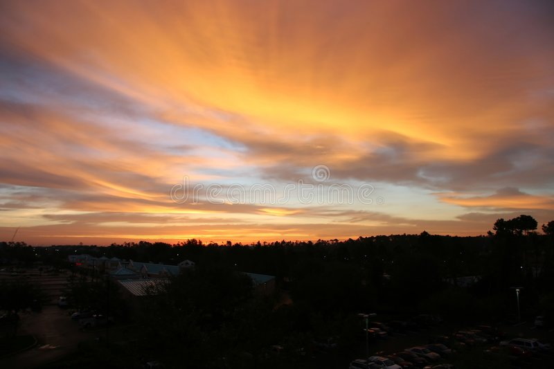 Morning with speed clouds royalty free stock photos