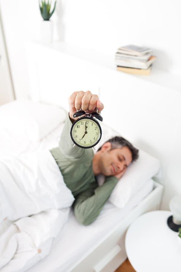 Morning stress stock image
