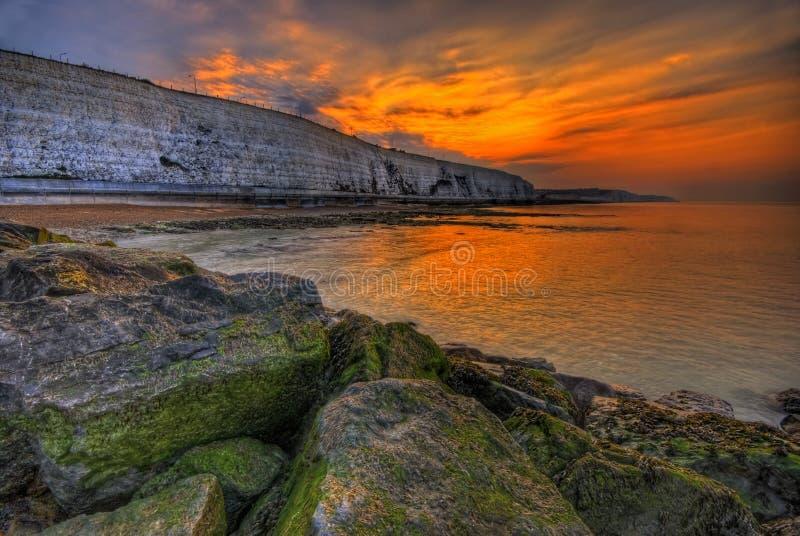 Morning sun. The capture write in Brighton UK stock image
